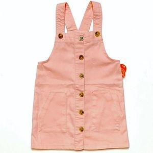 BNWT Wonder Nation Pink Dress Overalls Jumper 5T